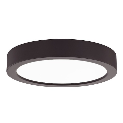Design Classics Lighting Flat LED Light Surface Mount 6-Inch Round Bronze 3000K 1077LM 6309-BZ T16