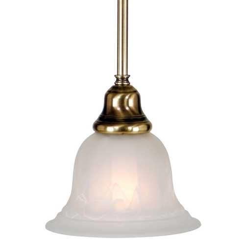 Dolan Designs Lighting Mini-Pendant with Alabaster Glass 649-18