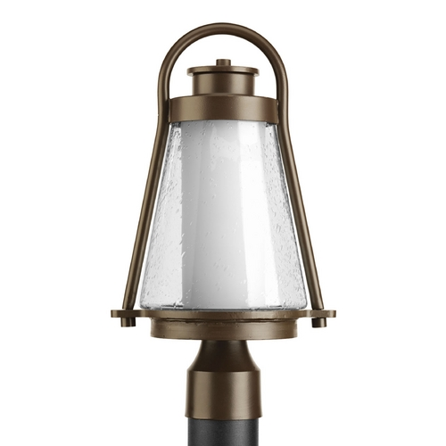 Progress Lighting Progress Post Light with Clear Glass in Antique Bronze Finish P6405-20