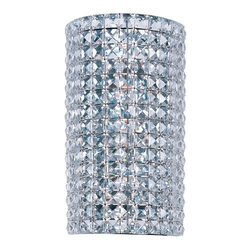 Maxim Lighting Crystal Sconce Wall Light in Polished Chrome Finish 39939BCPC