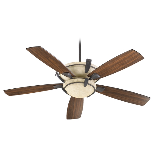 Quorum Lighting Quorum Lighting Mendocino Toasted Sienna Ceiling Fan with Light 61525-944
