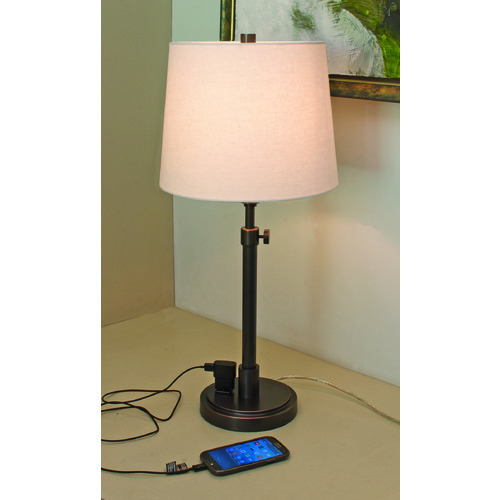 House of Troy Lighting House Of Troy Townhouse Oil Rubbed Bronze Table Lamp with Empire Shade TH751-OB
