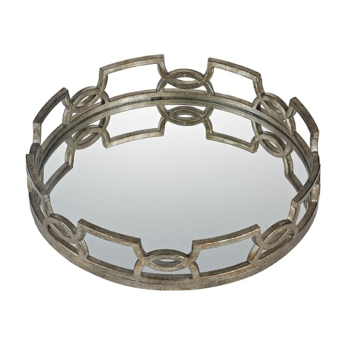 Sterling Lighting Iron Scroll Mirrored Tray 114-89