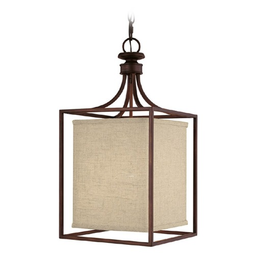 Capital Lighting Capital Lighting Midtown Burnished Bronze Pendant Light with Rectangle Shade 9046BB-462