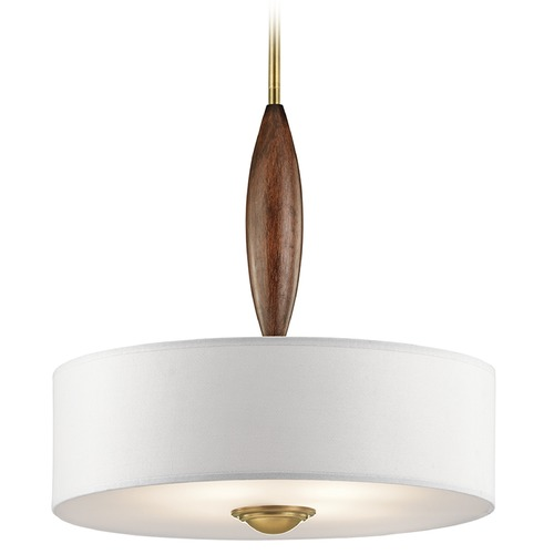 Kichler Lighting Kichler Lighting Lucille Pendant Light with Drum Shade 43841NBR