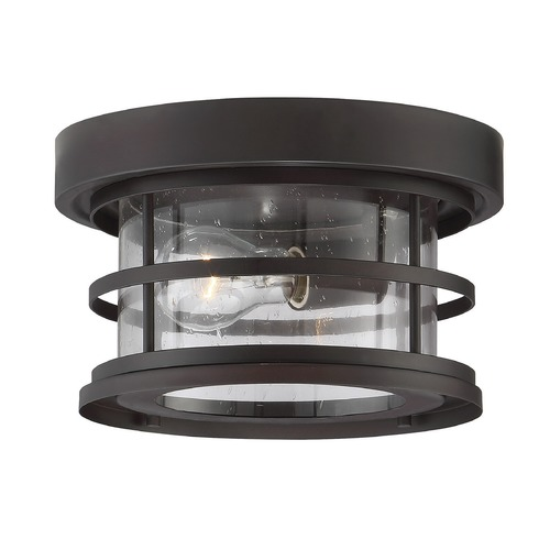 Savoy House Seeded Glass Close To Ceiling Light Bronze Savoy House 5-369-10-13