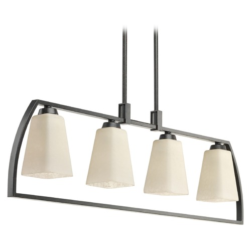 Progress Lighting Progress Lighting Ridge Espresso Island Light with Square Shade P4698-84