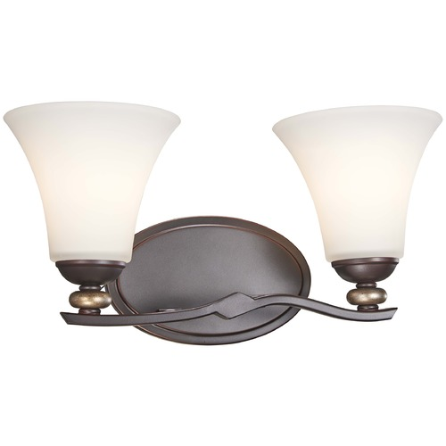 Minka Lavery Minka Shadowglen Lathan Bronze with Gold Bathroom Light 2282-589