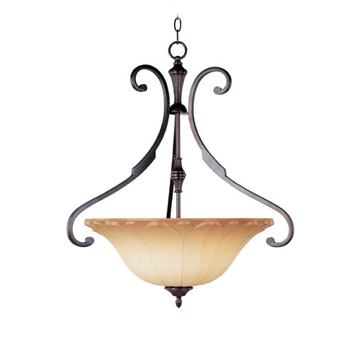 Maxim Lighting Maxim Lighting Allentown Oil Rubbed Bronze Pendant Light with Bell Shade 13503WSOI