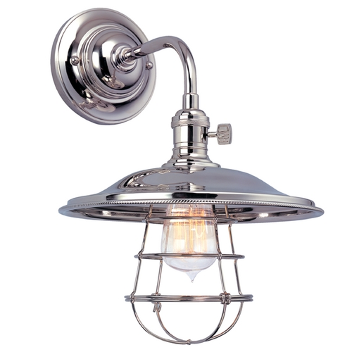 Hudson Valley Lighting Sconce Wall Light in Polished Nickel Finish 8000-PN-MS2-WG