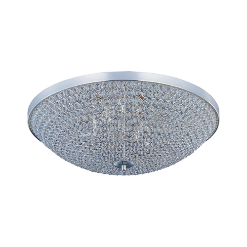 Maxim Lighting Maxim Lighting Glimmer Plated Silver Flushmount Light 39872BCPS