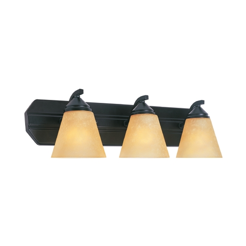Designers Fountain Lighting Bathroom Light with Beige / Cream Glass in Oil Rubbed Bronze Finish 6603-ORB