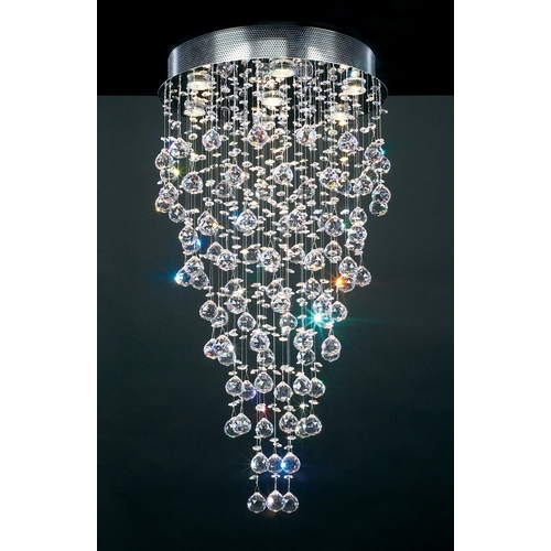 PLC Lighting Modern Pendant Light in Polished Chrome Finish 81723 PC