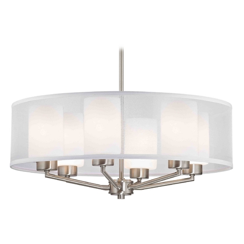 Design Classics Lighting Design Classics Palatine Fuse Satin Nickel Pendant Light 1725-09