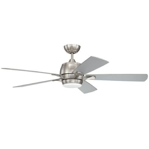 Craftmade Lighting 52-Inch Brushed Nickel Ceiling Fan with LED Light 3000K 900LM STE52BNK5