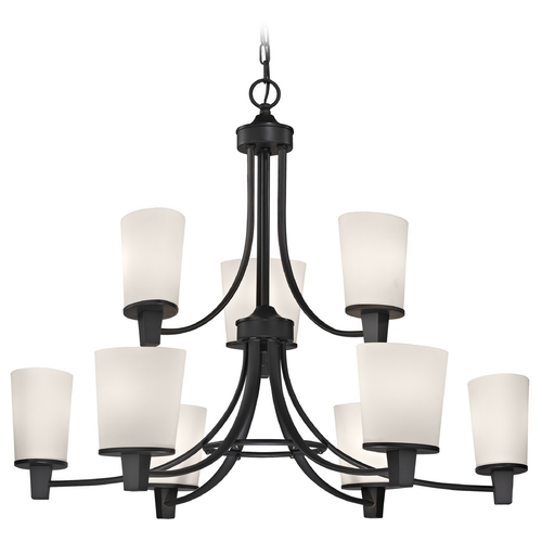 Dolan Designs Lighting Modern Chandelier with White Glass in Bolivian Finish 1099-78