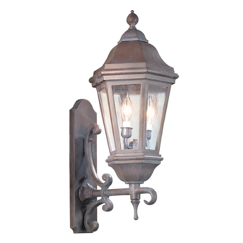 Troy Lighting Seeded Glass Outdoor Wall Light Bronze Troy Lighting BCD6831BZ