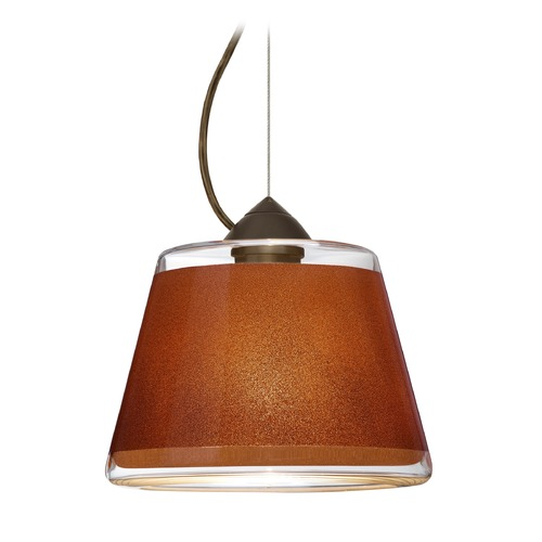 Besa Lighting Besa Lighting Pica Bronze Pendant Light with Empire Shade 1KX-PIC9TN-BR