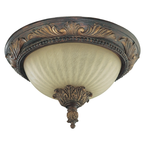 Quorum Lighting Quorum Lighting Madeleine Corsican Gold Flushmount Light 3230-13-88