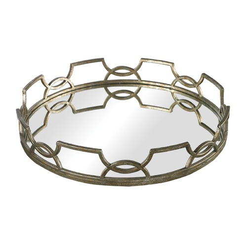 Sterling Lighting Iron Scroll Mirrored Tray 114-90