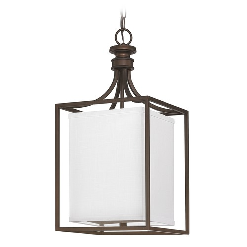 Capital Lighting Capital Lighting Midtown Burnished Bronze Pendant Light with Rectangle Shade 9046BB-463