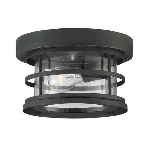Savoy House Seeded Glass Close To Ceiling Light Black Savoy House 5-369-10-BK