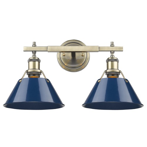 Golden Lighting Golden Lighting Orwell Ab Aged Brass Bathroom Light 3306-BA2 AB-NVY