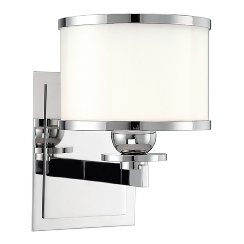 Hudson Valley Lighting Sconce with White Glass in Polished Nickel Finish 6101-PN