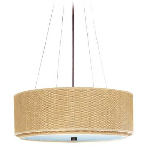 ET2 Lighting Modern Pendant Light with Brown Tones Shades in Oil Rubbed Bronze Finish E95160-101OI