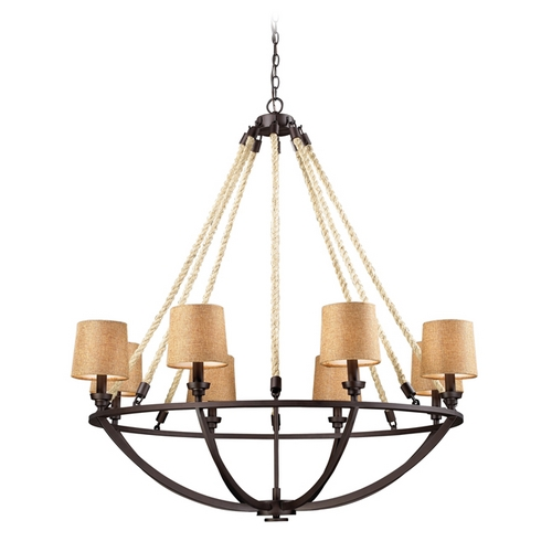 Elk Lighting Elk Lighting Natural Rope Bronze Chandelier  63017-8