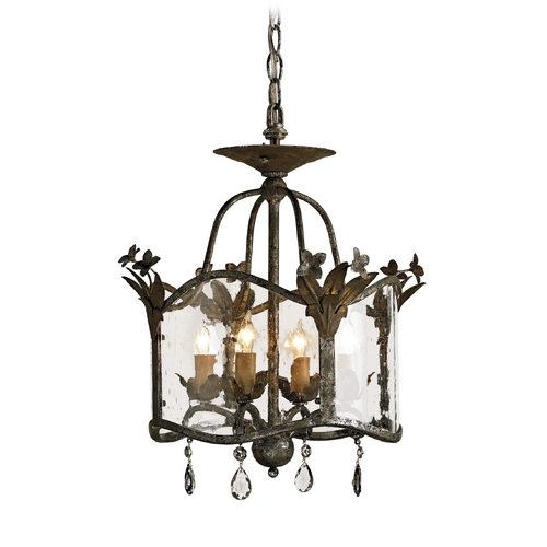 Currey and Company Lighting Pendant Light in Viejo Gold/ Viejo Silver Finish 9979