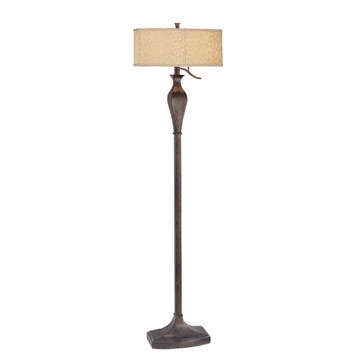 Design Classics Lighting Floor Lamp with Oval Shade 6681-604 / SH7363
