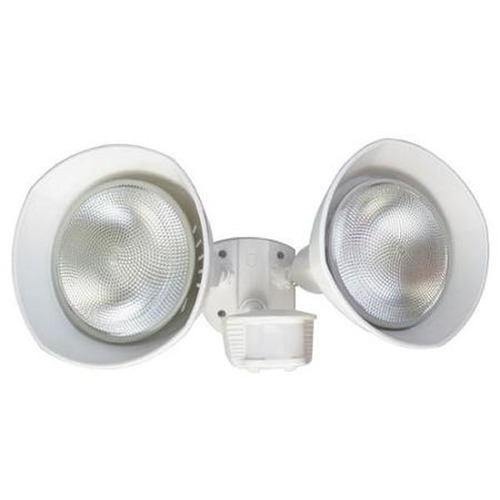 Designers Edge Lighting Motion Activated Twin Head Security Flood Light L-6002-WH