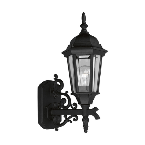 Progress Lighting Progress Outdoor Wall Light with Clear Glass in Textured Black Finish P5681-31