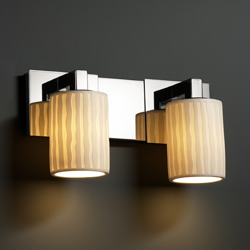 Justice Design Group Justice Design Group Limoges Collection Bathroom Light POR-8922-10-WFAL-CROM