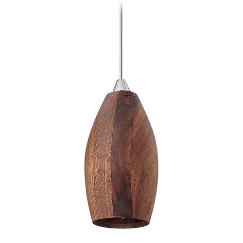 Fredrick Ramond Frederick Ramond Loft Walnut LED Mini-Pendant Light with Oblong Shade FR35018WAL