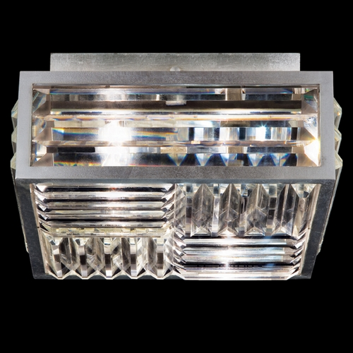 Fine Art Lamps Fine Art Lamps Crystal Enchantment Silver-Leafed Flushmount Light 815540ST