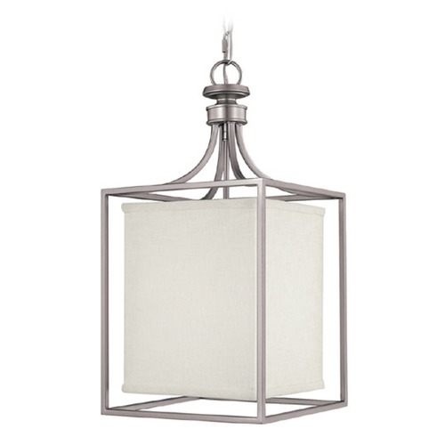 Capital Lighting Capital Lighting Midtown Matte Nickel Pendant Light with Rectangle Shade 9046MN-463
