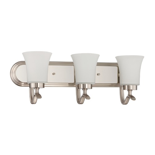 Jeremiah Lighting Jeremiah Lighting Northlake Satin Nickel Bathroom Light 38303-SN