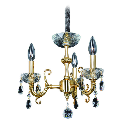 Allegri Lighting Bertalli 3 Light Mini Chandelier w/ Brushed Nickel 023351-009-FR001