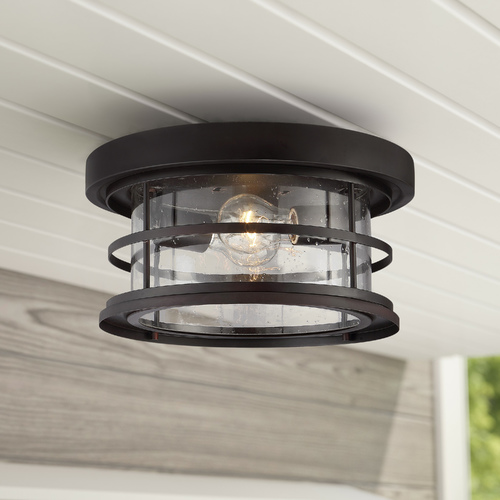 Savoy House Seeded Glass Close To Ceiling Light Bronze Savoy House 5-369-13-13