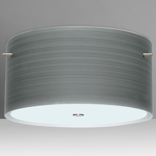 Besa Lighting Besa Lighting Tamburo Satin Nickel LED Semi-Flushmount Light 1KM-4008TN-LED-SN