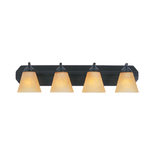 Designers Fountain Lighting Bathroom Light with Beige / Cream Glass in Oil Rubbed Bronze Finish 6604-ORB