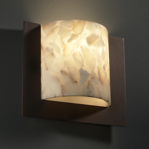Justice Design Group Justice Design Group Alabaster Rocks! Collection Sconce ALR-5560-DBRZ