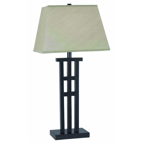 Kenroy Home Lighting Table Lamp with Taupe Shade in Bronze Finish 32157BRZ