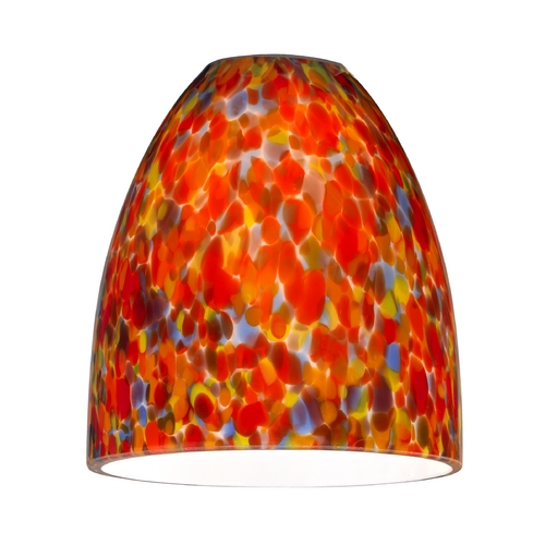 Design Classics Lighting Bell Art Glass Shade - Lipless with 1-5/8-Inch Fitter Opening GL1012MB