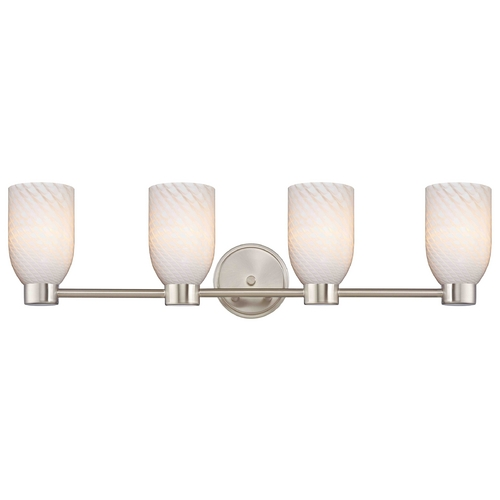 Design Classics Lighting Design Classics Aon Fuse Satin Nickel Bathroom Light 1804-09 GL1020D
