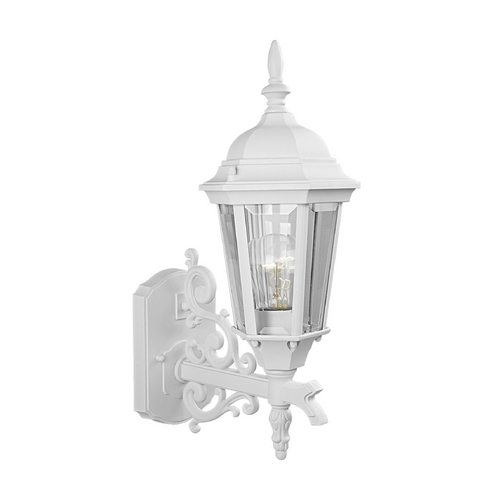 Progress Lighting Progress Outdoor Wall Light with Clear Glass in Textured White Finish P5681-30
