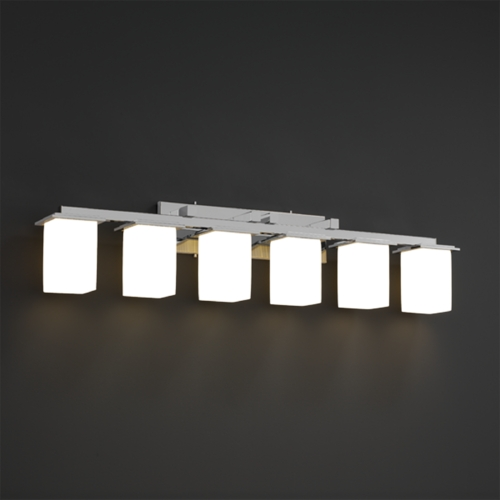 Justice Design Group Justice Design Group Fusion Collection Bathroom Light FSN-8686-15-RBON-CROM