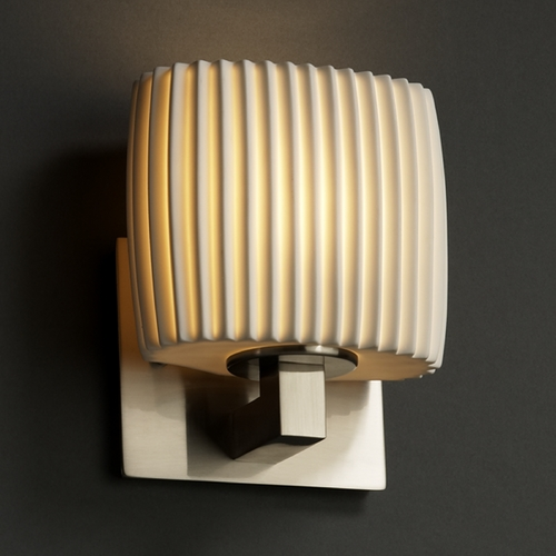 Justice Design Group Justice Design Group Limoges Collection Sconce POR-8931-30-PLET-NCKL